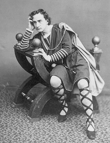 The American actor  Edwin Booth  as  Hamlet , ca. 1870