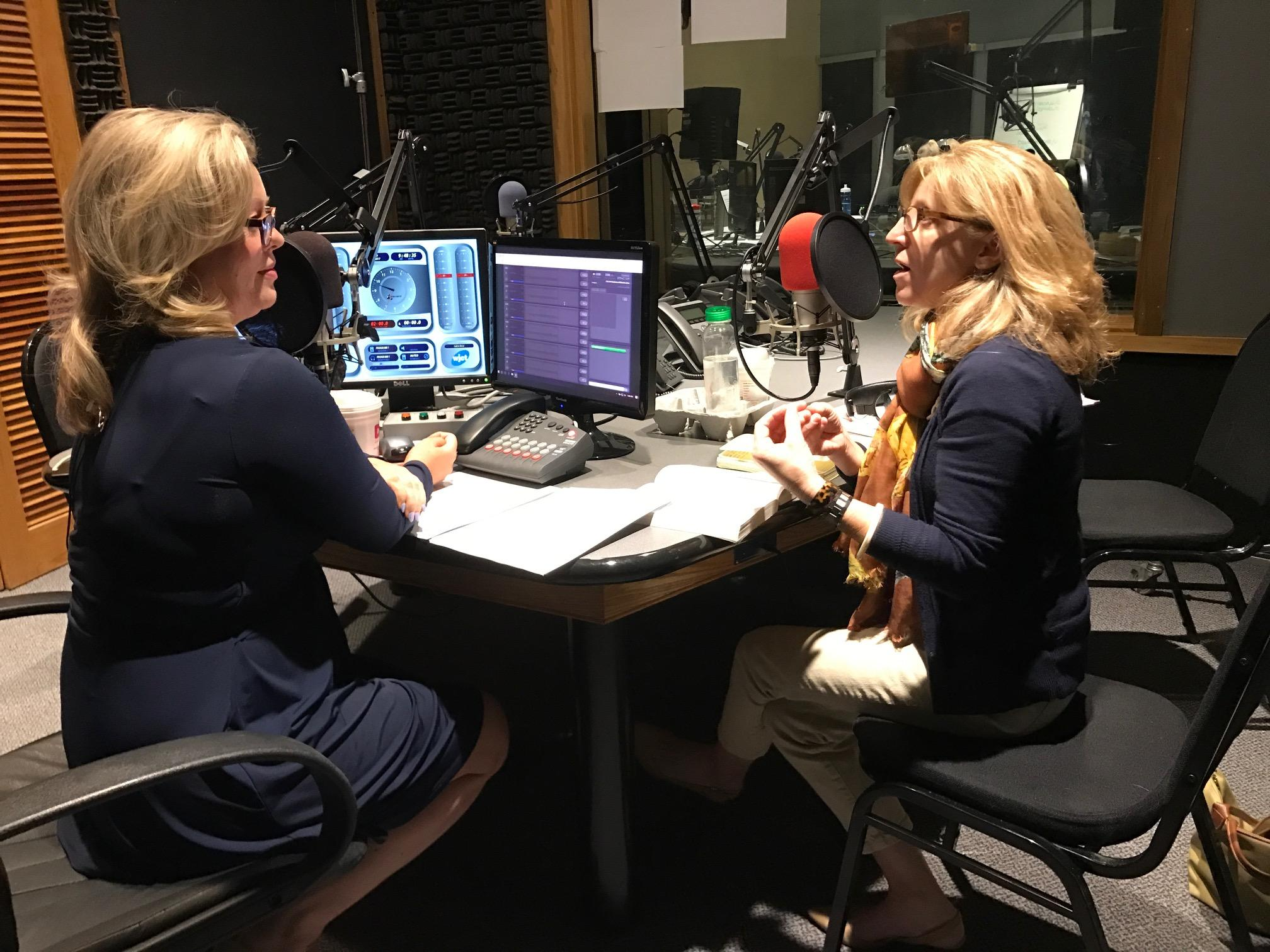 Discussing  A Man Called Ove  with Melissa Ross, left.  VERONICA HALL /WJCT
