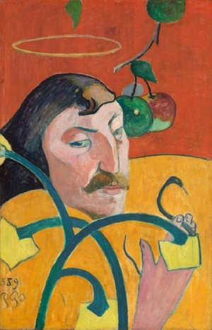 Paul Gauguin      Self-Portrait , 1889, Oil on canvas, 31 1/5 × 20 1/5 in; 79.2 × 51.3 cm
