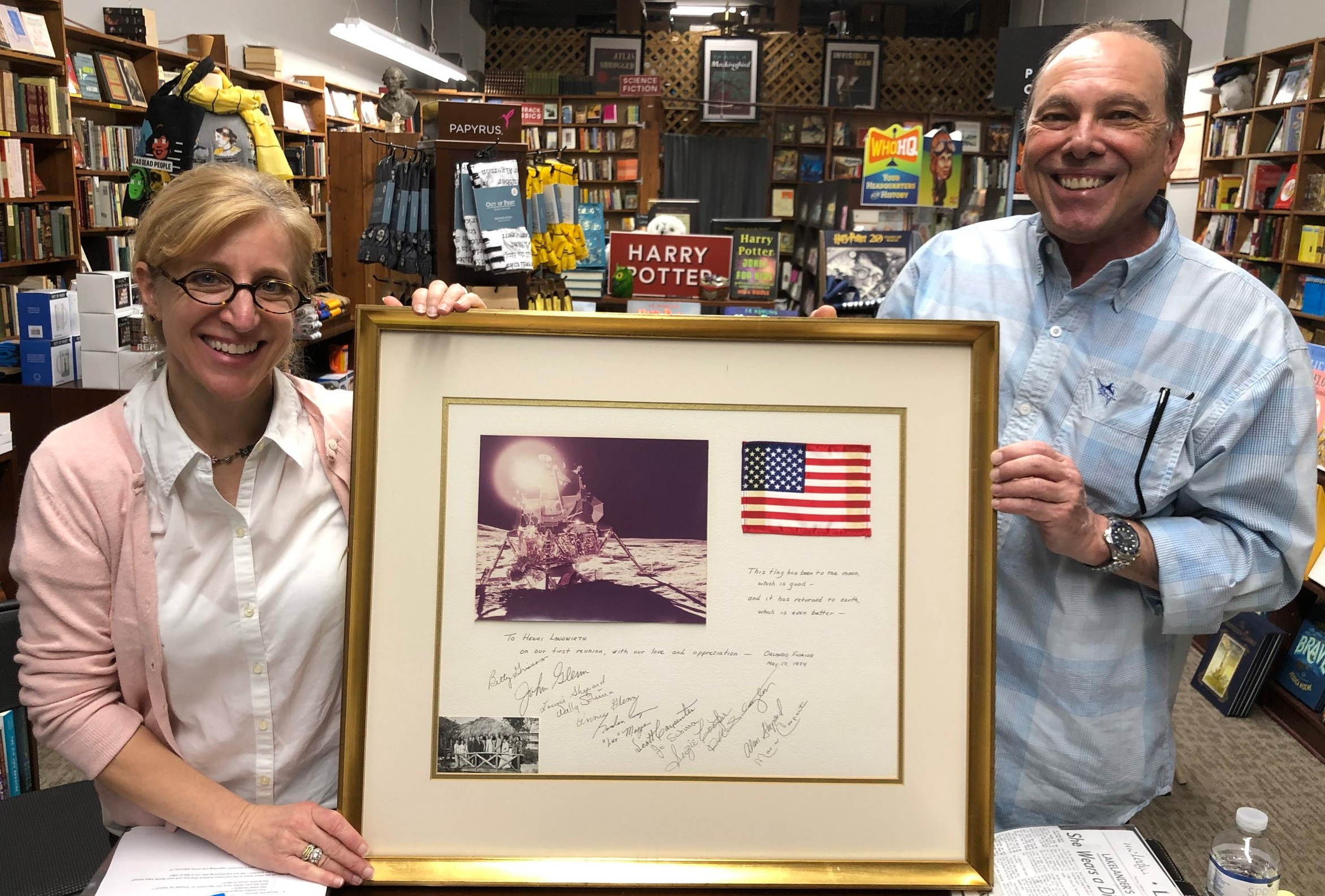 Greg Landwirth shared his family's NASA stellar memorabilia during our  The Right Stuff  book discussion at San Marco Books & More.