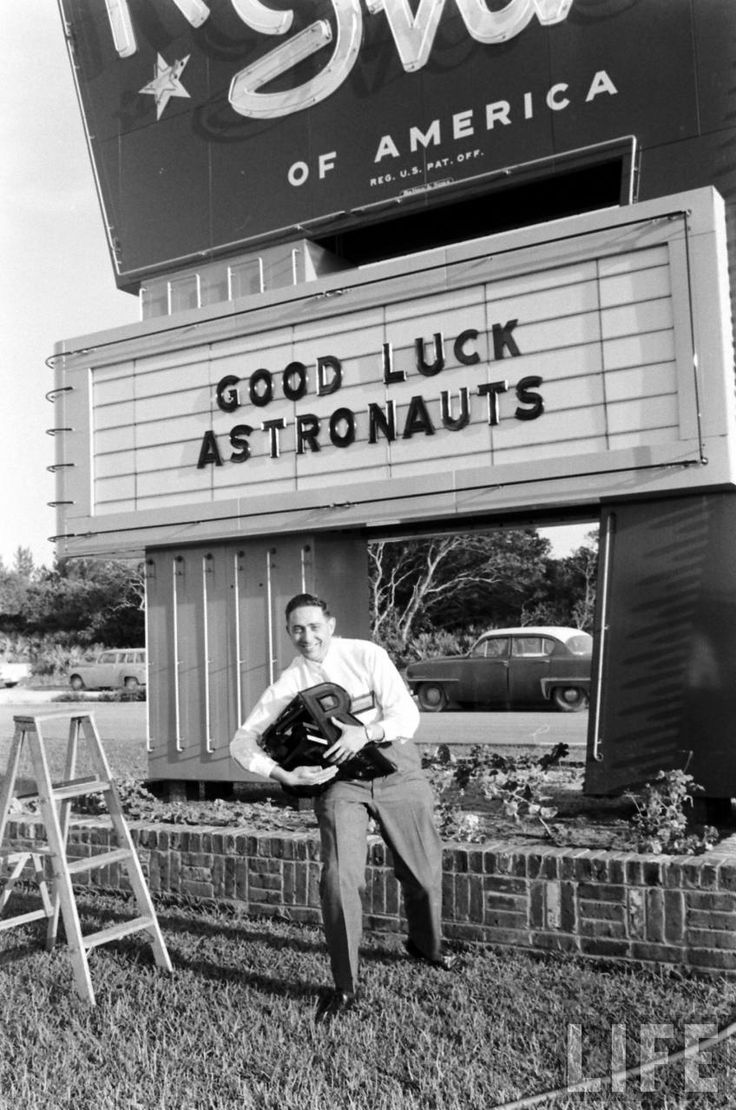 Greg's Dad, Henri Landwirth preparing to welcome the Mercury 7 Astronauts.