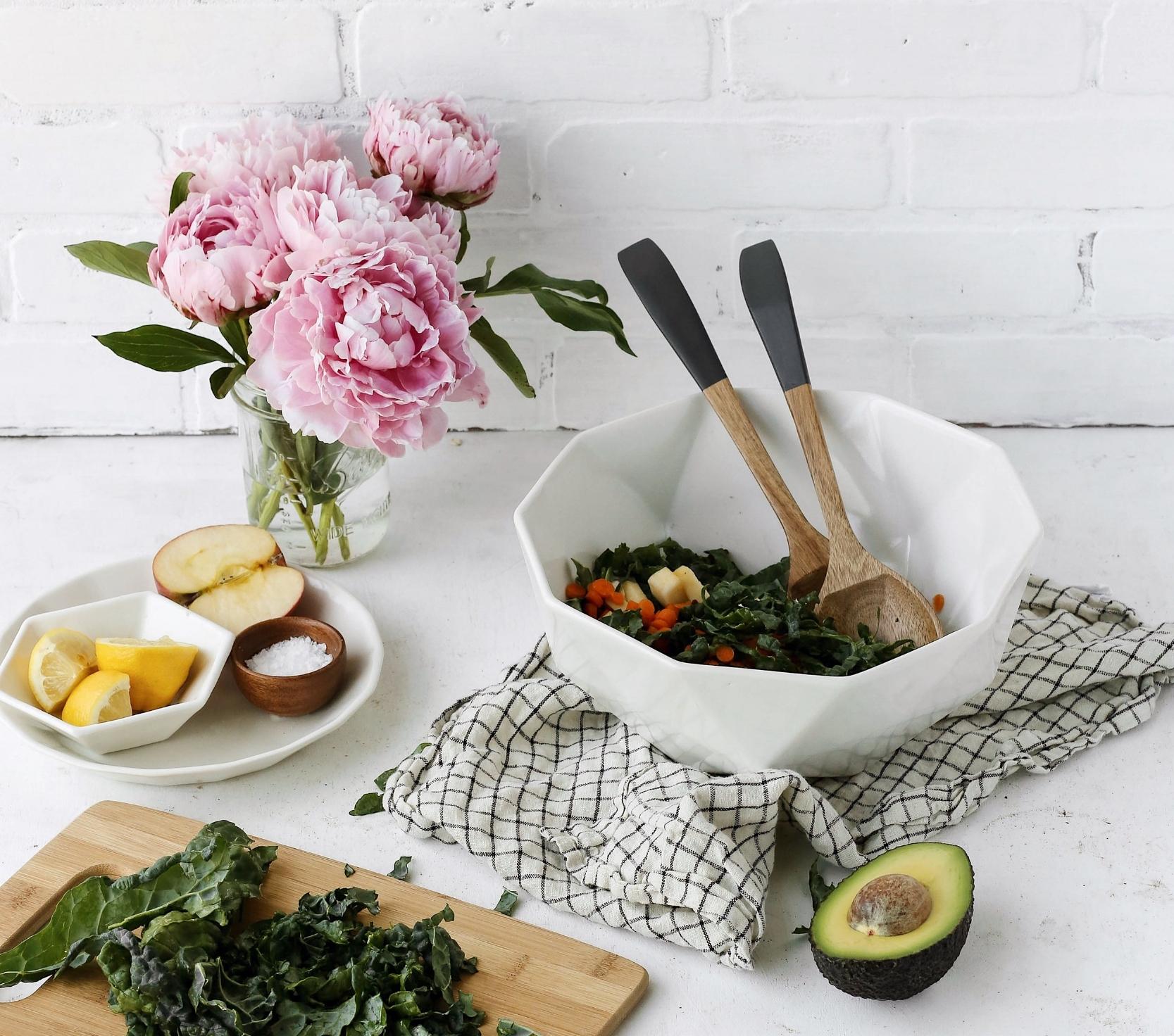 CONVIVIAL  2V Serving Bowl ,  Mini Hexagon Bowl ,  Riveted Salad Plates