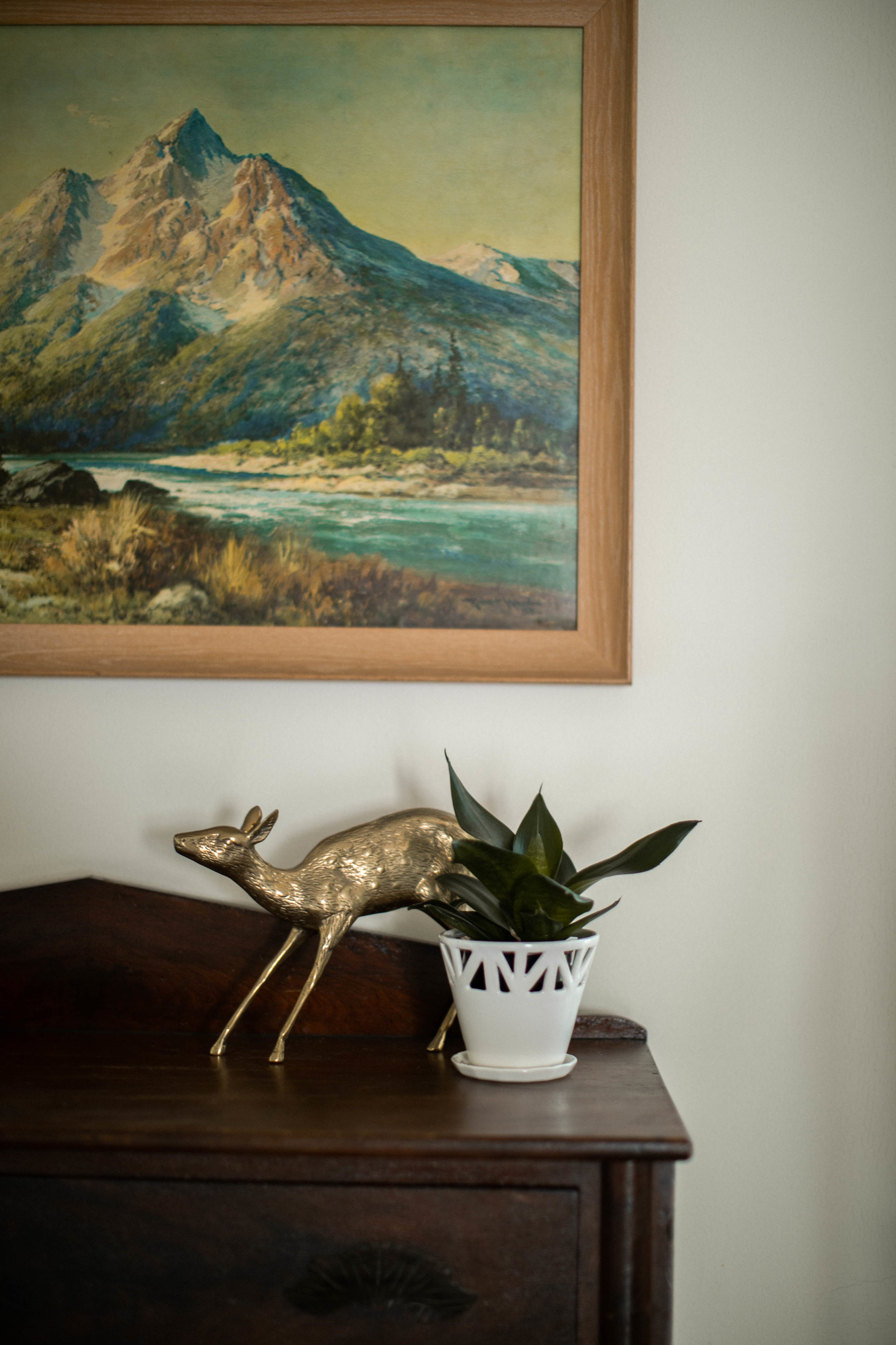 CONVIVIAL -  Small Tabletop Planter , Brass animal from  Meek Vintage