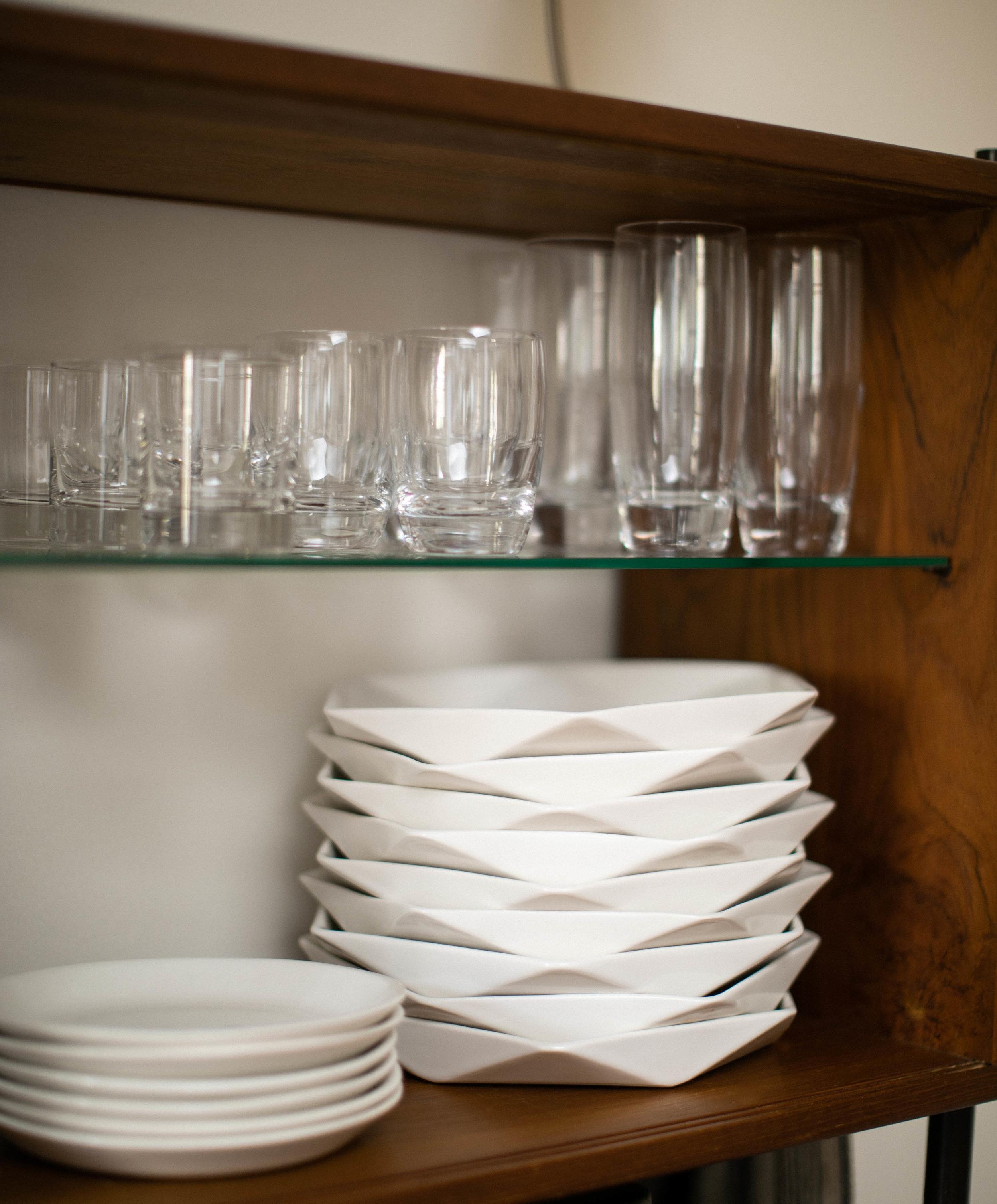 CONVIVIAL -  Hexagon Dinner Plates  and  Minimal Salad Plates