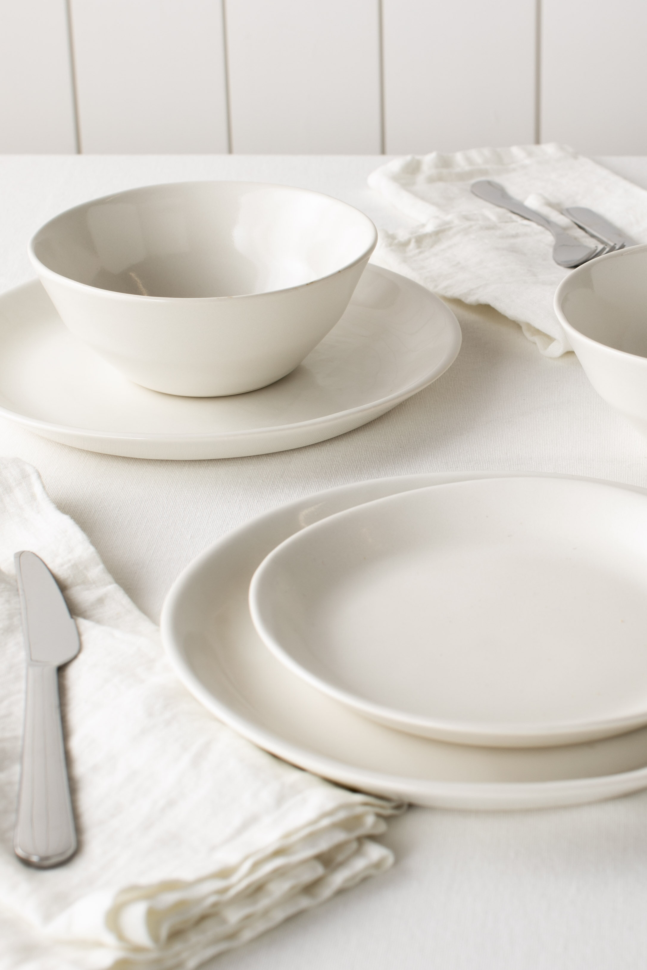 Featuring our Minimal Dinnerware Collection in Ivory.
