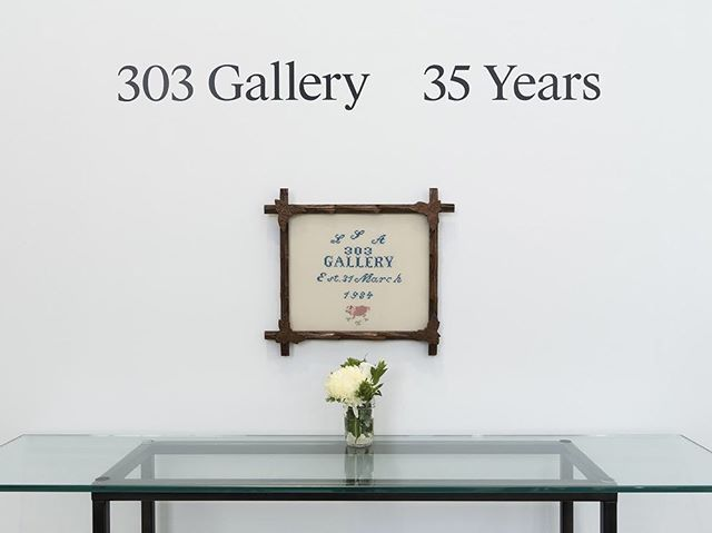 "TONIGHT, @303gallery will present ""303 Gallery : 35 Years"". Join us for the opening reception from 5-7 pm to celebrate the years past, present, and the future for the gallery! ⠀⠀⠀⠀⠀⠀⠀⠀⠀⠀⠀ ⠀⠀⠀⠀⠀⠀⠀⠀⠀⠀⠀ ⠀⠀⠀⠀⠀⠀⠀⠀⠀⠀⠀ ⠀⠀⠀⠀⠀⠀⠀⠀⠀⠀⠀ Iconic works foregrounding the long relationships of many artists continuing to show with the gallery are exhibited here in conversation with recent works by artists who are newer additions to the roster. The show speaks to the continual evolution of the program over the years, creating a picture of what 303 Gallery has been, what it currently represents, and where it is headed. ⠀⠀⠀⠀⠀⠀⠀⠀⠀⠀⠀ ⠀⠀⠀⠀⠀⠀⠀⠀⠀⠀⠀ ⠀⠀⠀⠀⠀⠀⠀⠀⠀⠀⠀ ⠀⠀⠀⠀⠀⠀⠀⠀⠀⠀⠀ Paired with a new hardcover publication chronicling the story of the gallery, ""303 Gallery: 35 Years"", spans from its founding in 1984 through its history creating and mirroring developments in the New York and international art worlds.  #303gallery #hellothirdeye ⠀⠀⠀⠀⠀⠀⠀⠀⠀⠀⠀ ⠀⠀⠀⠀⠀⠀⠀⠀⠀⠀⠀ ⠀⠀⠀⠀⠀⠀⠀⠀⠀⠀⠀ ⠀⠀⠀⠀⠀⠀⠀⠀⠀⠀⠀ Installation view, ""303 Gallery: 35 Years"", 303 Gallery, New York, July 18 ­ August 16, 2019.Courtesy 303 Gallery, New York. Photo: John Berens."