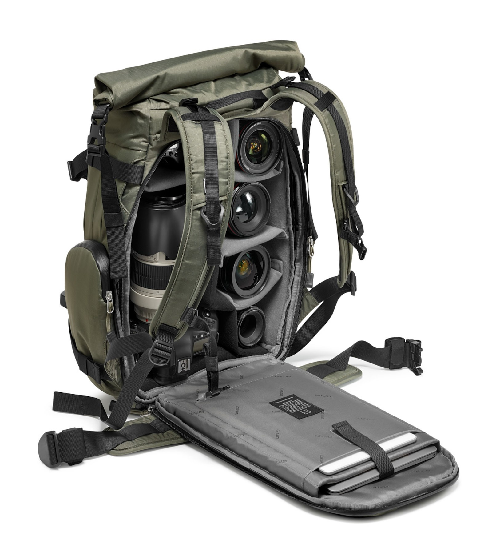 Inner view showcasing laptop and table pouches