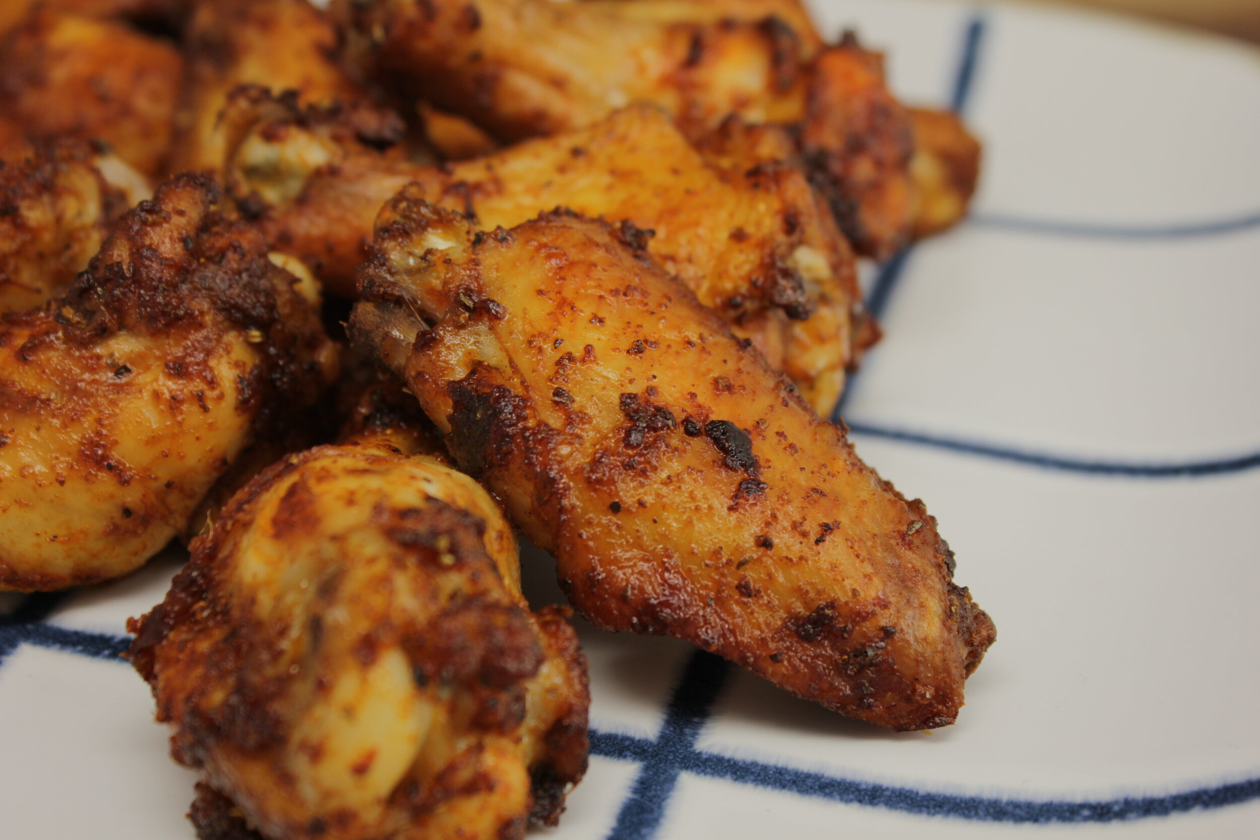 Air Fryer Dry Rubbed Chicken Wings Wholly Delicious