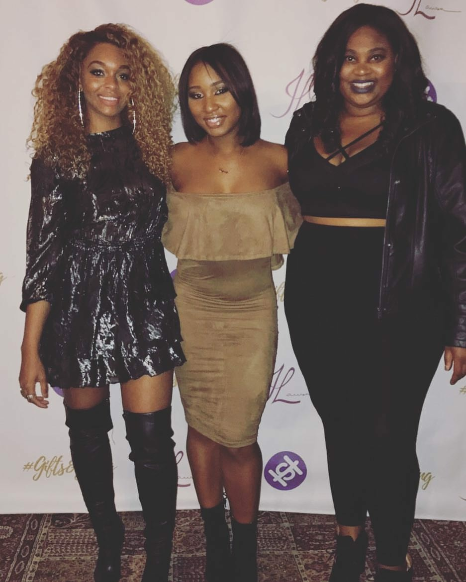 Co-Founders She'Neil Johnson and Brittani Treadway with community partner Jamika Whitehead.