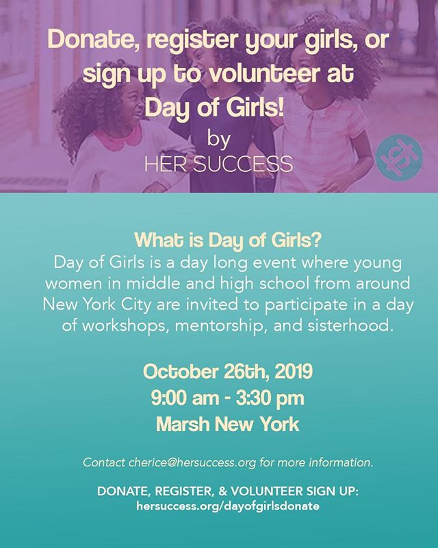 SIGN UP TO VOLUNTEER OR MAKE A DONATION! We need you :) Her Success Inc, is working to cultivate over 50 girls to be uncomfortable with average through our first, annual Day of Girls Summit. Won't you help? Your donation  and time served will fund high-impact breakout sessions, inspiring keynote speakers, tailored materials for activities, and life altering guidance for young girls. Donate or volunteer today! LINK IN BIO  #hersuccessinc #hersuccess #forthegirls #uncomfortablewithaverage #women #mentoring #mentorship #entrepreneurs #womenentrepreneurs #womenownedbusiness #womenownedbusiness #girlboss #empowered #empowerment #womensempowerment #thefutureisfemale