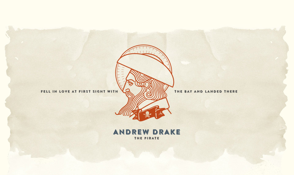 A pirate by the name of Andrew Drake.