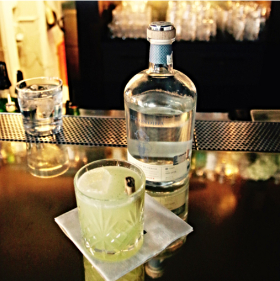 Jonas Urban is the father of this amazing cocktail :  EL CANELO . We won't tell you what's inside until you've tried it. Want to prepare it at home? Send an e-mail to   info@grandmezcal.com   for the ingredients. Enjoy!