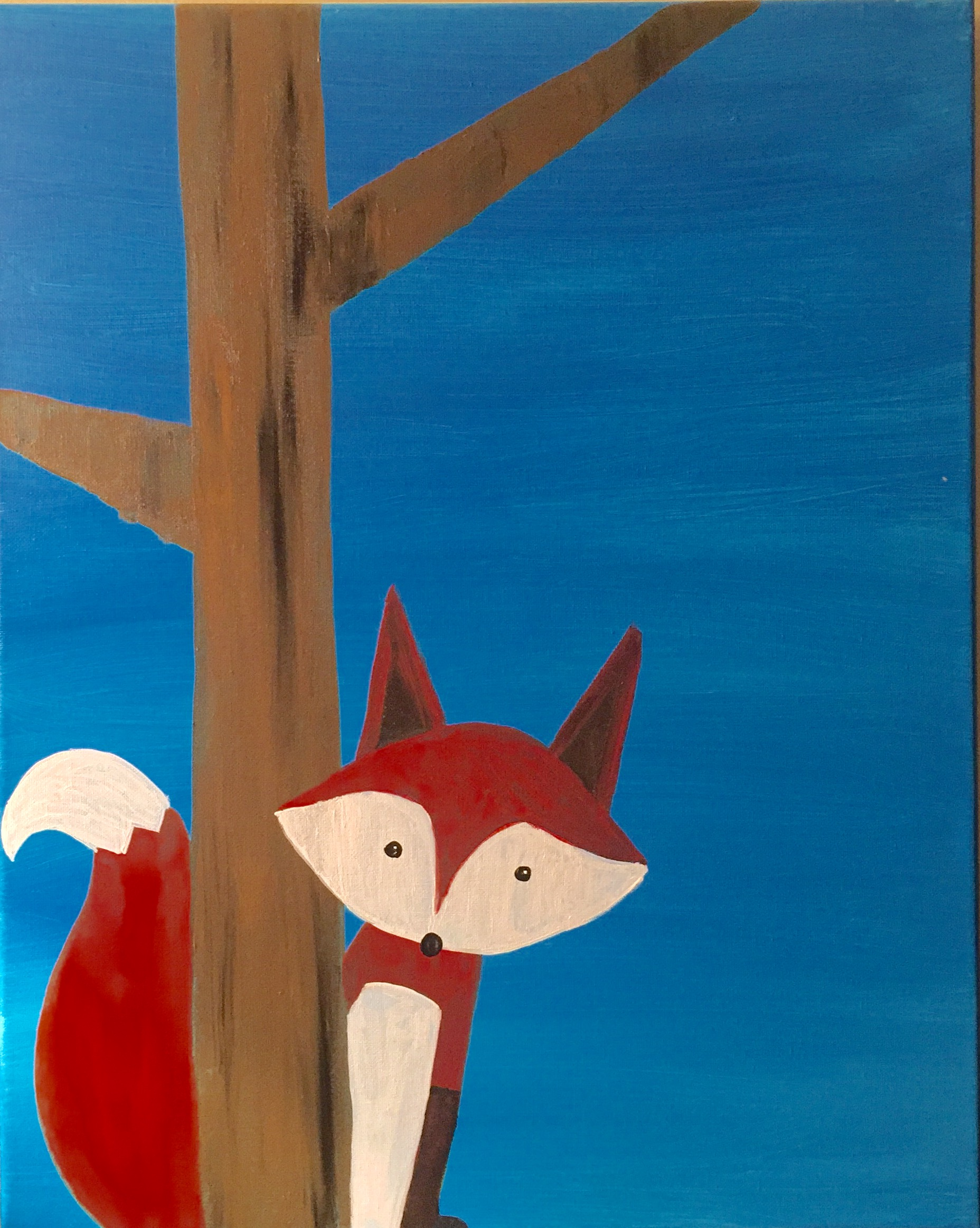 This cute fox painting will be fun for kids of all ages! This class is only $25 and includes a lunch of either chicken tenders & fries or mac n cheese.. Parents/accompanying adult may also paint for same price w/lunch, although not obligated to. Please email paintandpaletteri@gmail.com to RSVP or purchase your ticket here!