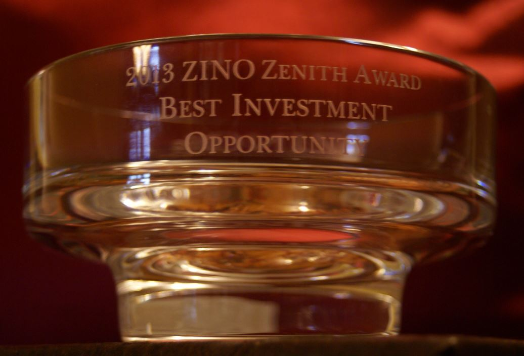 Zino Best Investment Opportunity Trophy