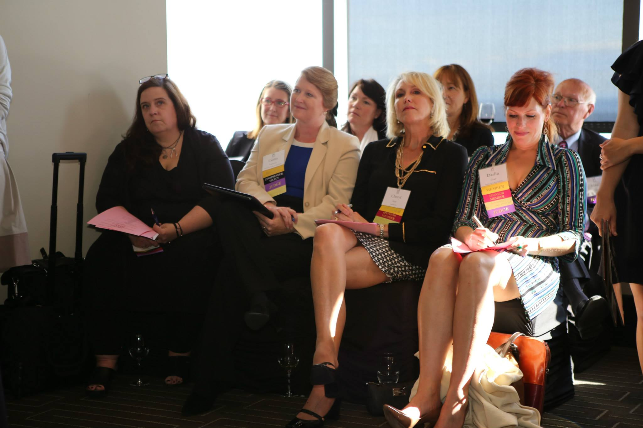 Caitlin as a Judge for the Zino Women Investment Forum