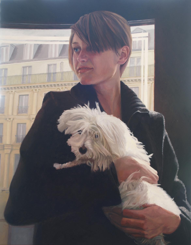 Paris, Woman, Dog
