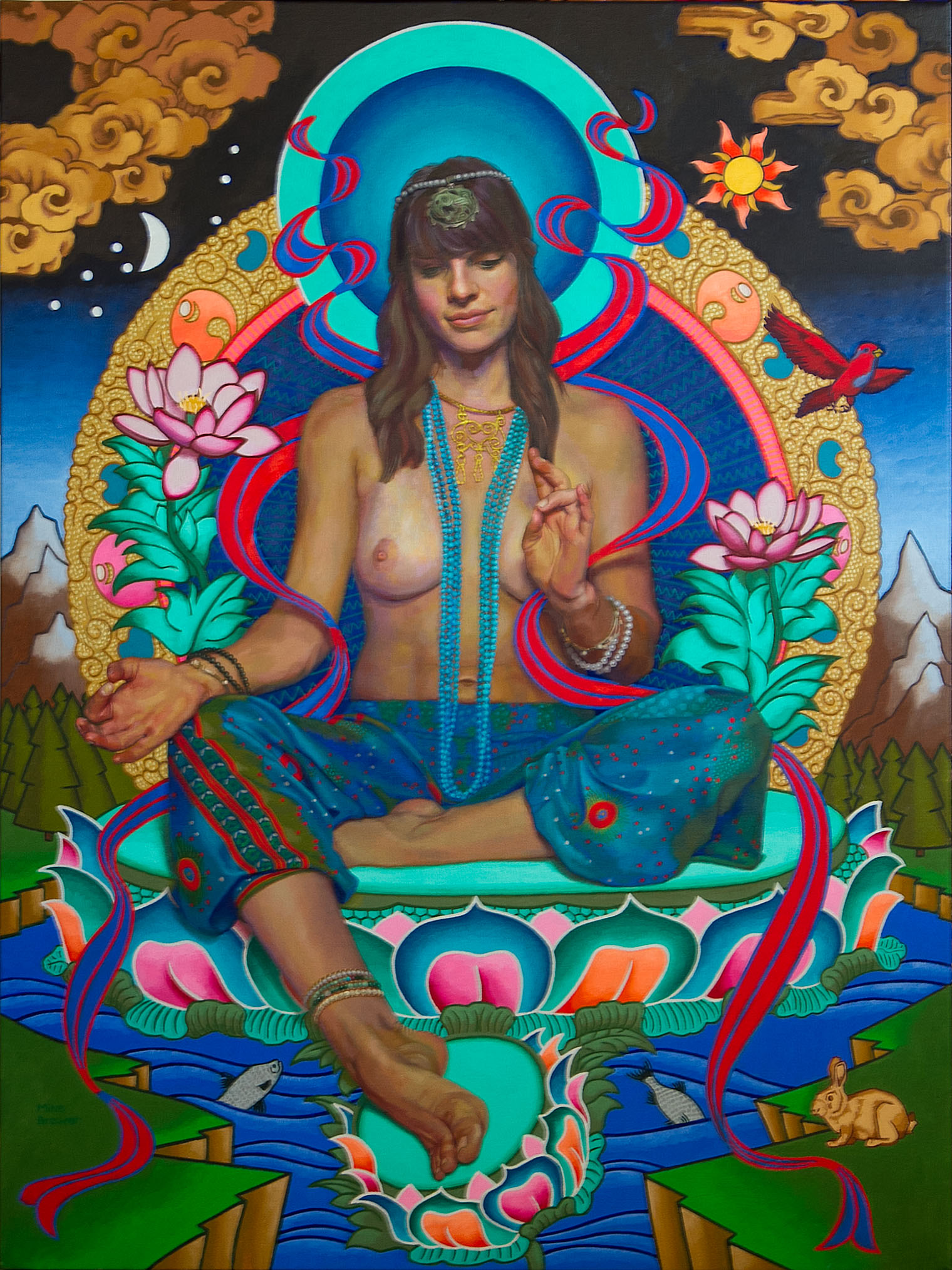 Icon of the Buddha Tara, Western Style