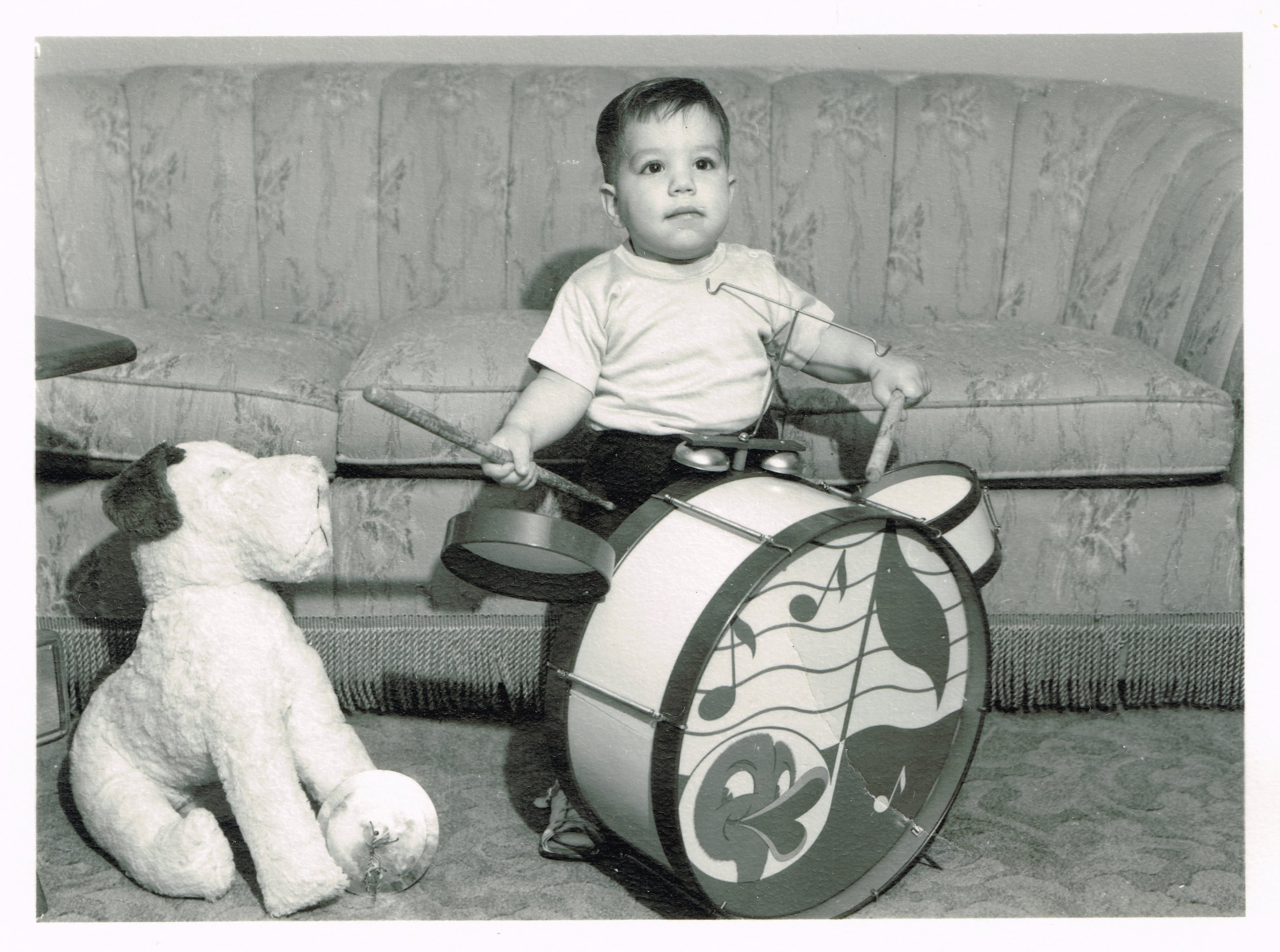 Dugan and Drums_Christmas Card_1952_photo only.jpg