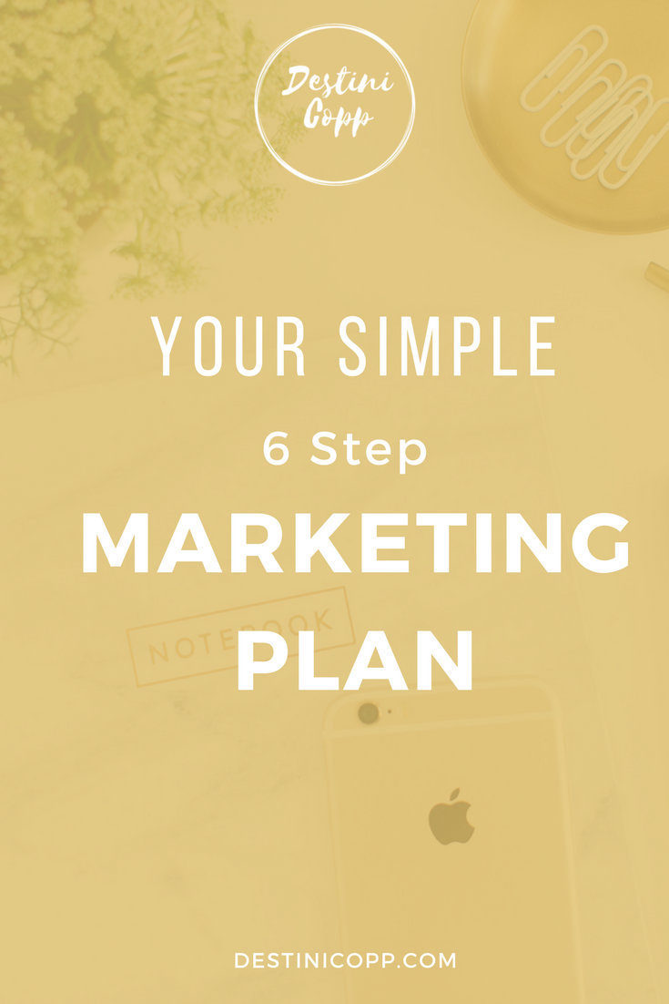 Your Simple 6 Step Marketing Plan