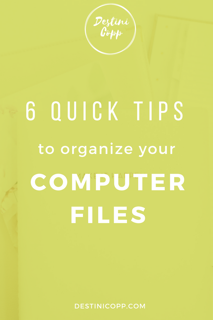 6 Quick Tips to Organize your Computer Files in Google Docs
