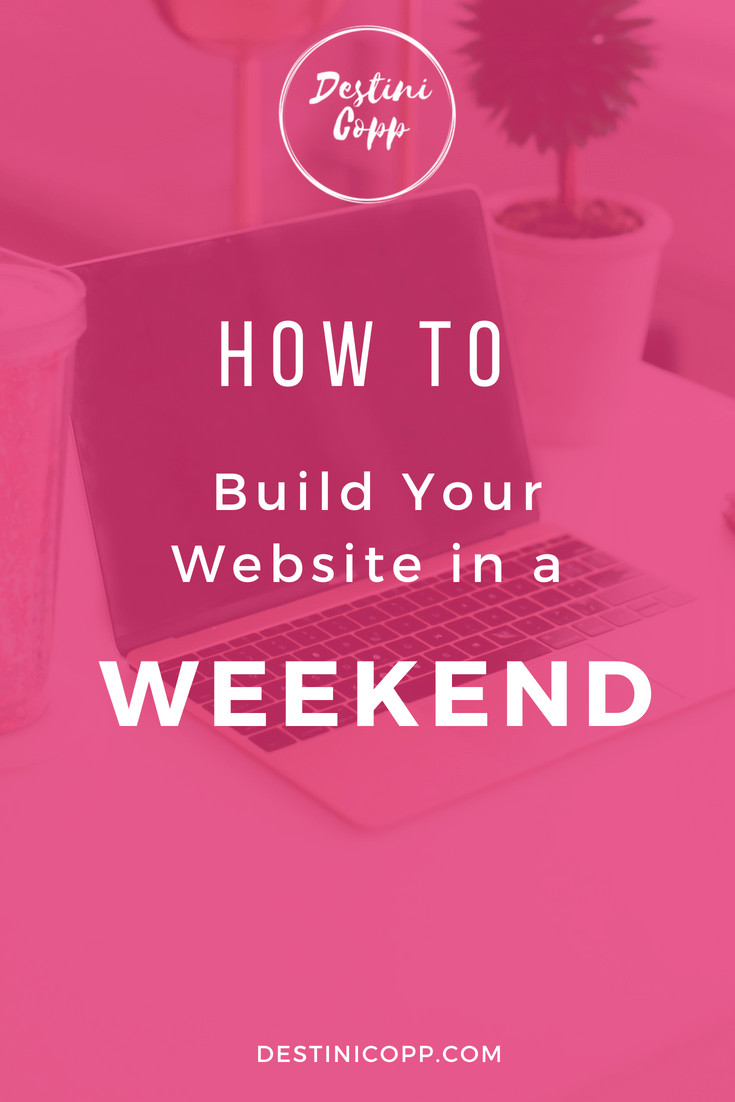 How to Build Your Website in a Weekend