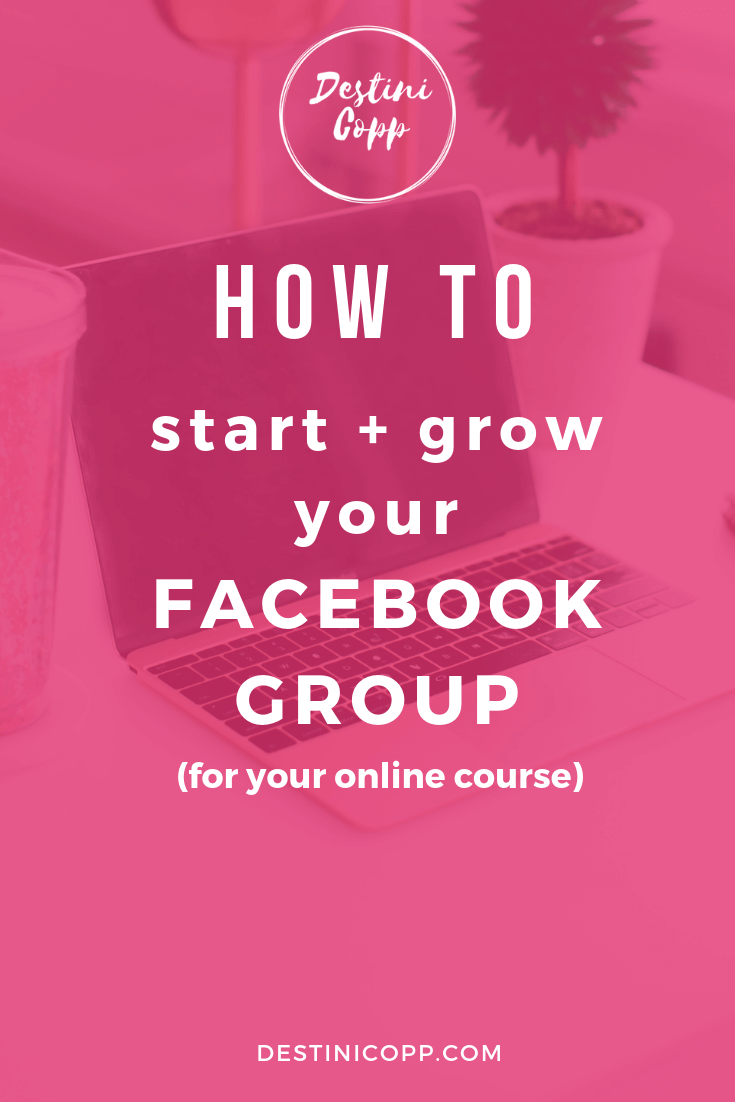 How to Start and Grow a Facebook Group (for your online course)