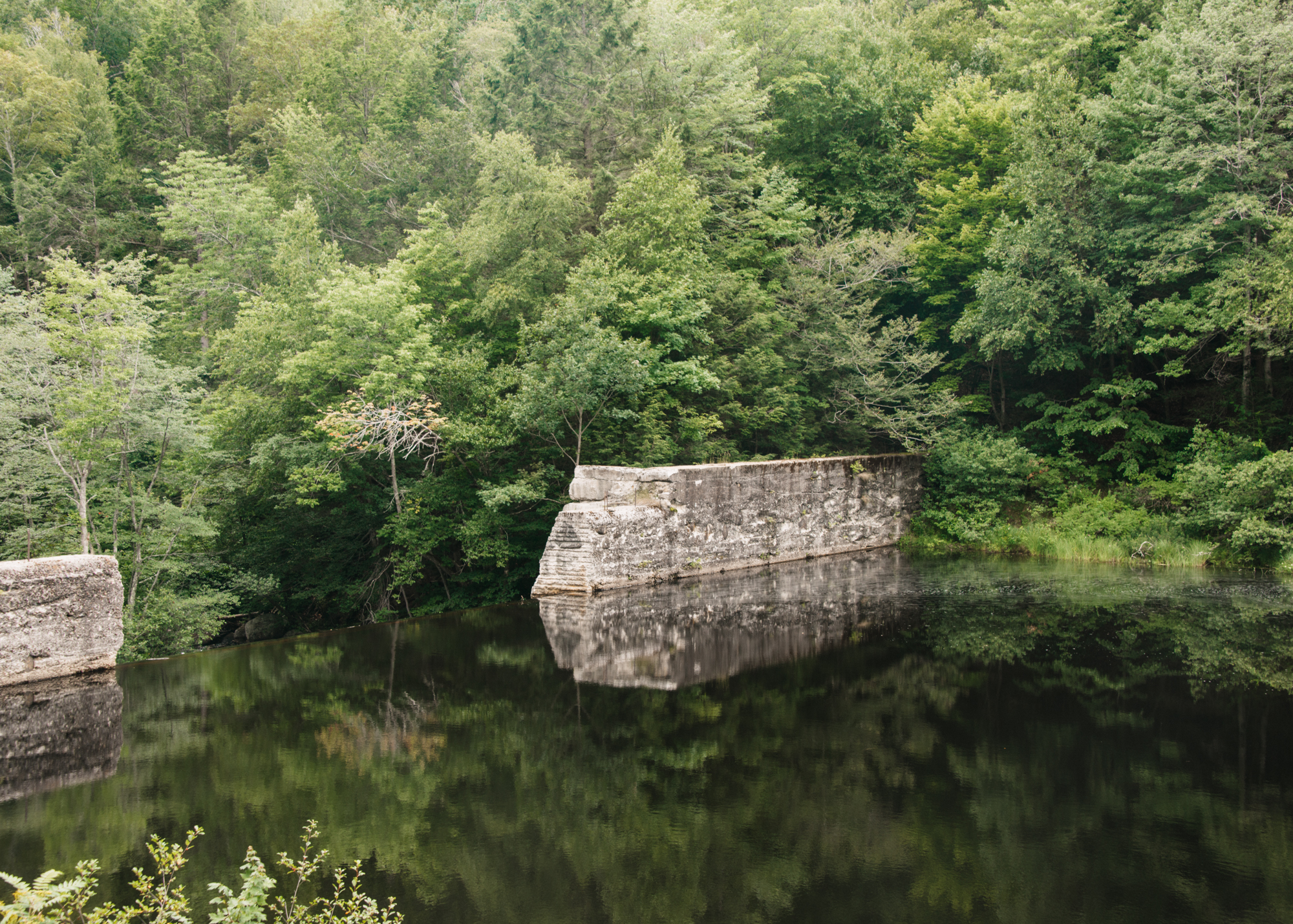 Reflection on MacDowell Lake, Peterborough, New Hampshire.