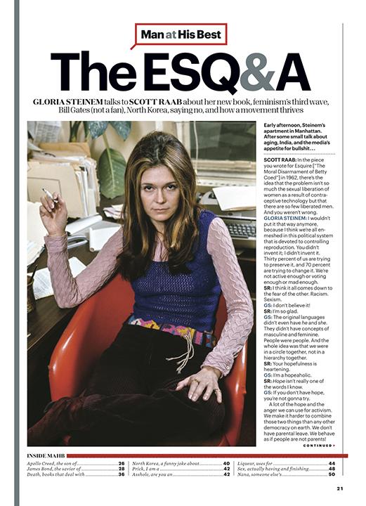 Gloria Steinem // Esquire