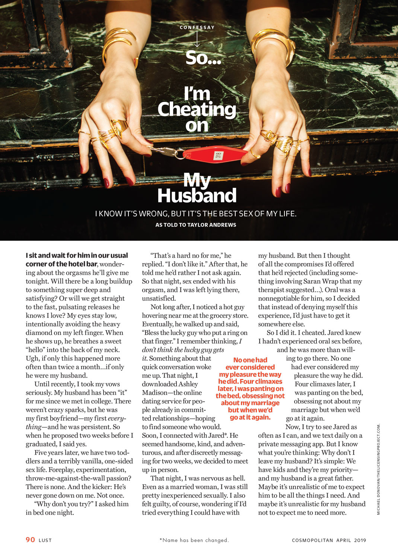 Cheating // Cosmopolitan
