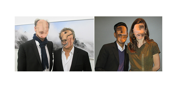 Left- Art advisor Gregory Lang and collector François Blanc. Right- Artist Baptist Coelho and curator Julia Marchand-.jpg