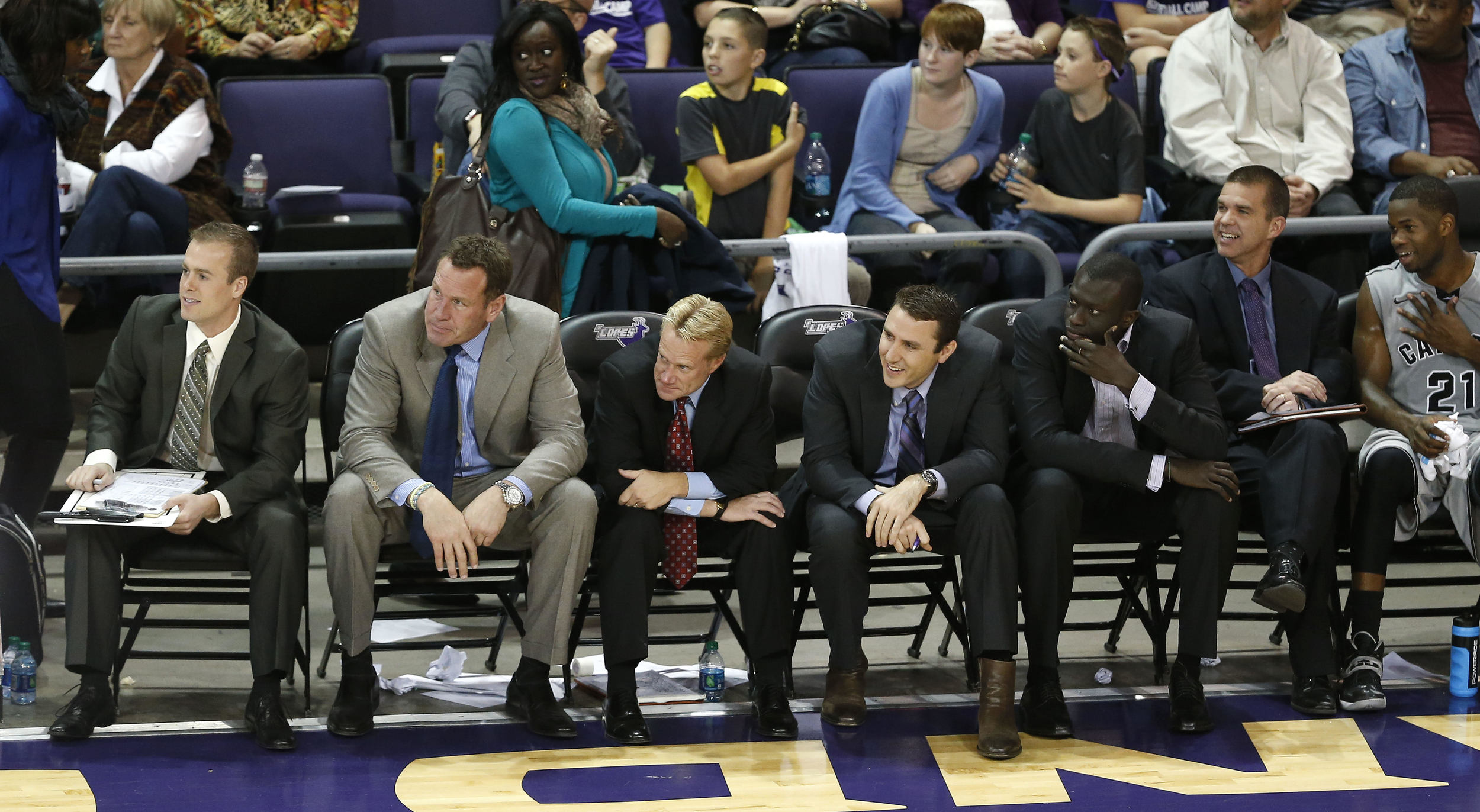 Dethie Fall, Assistant Coach, and his fellow Grand Canyon coaches lead their team to the CollegeInsider.com Second Round
