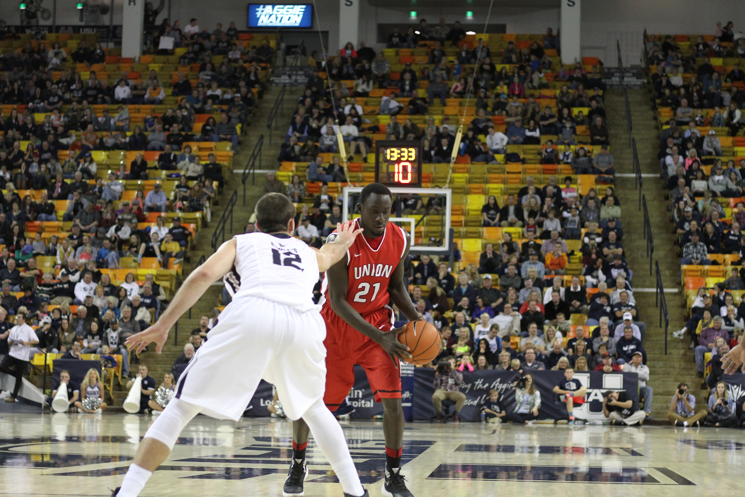 Serigne Mboup finished his college career with a double-double in his final game
