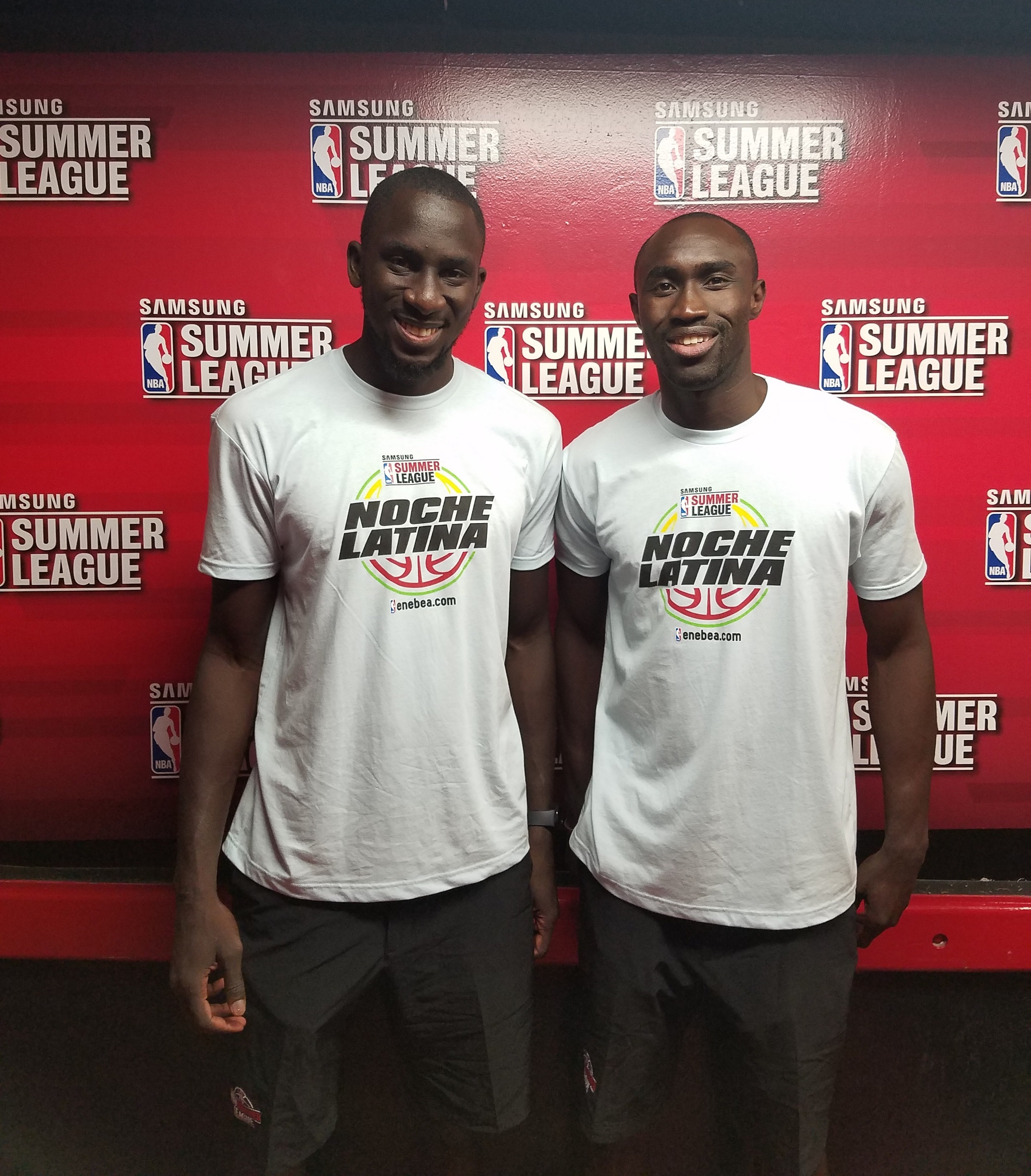 Serigne Mboup (Left) and Remy Ndiaye (Right) at the NBA Summer League in Las Vegas
