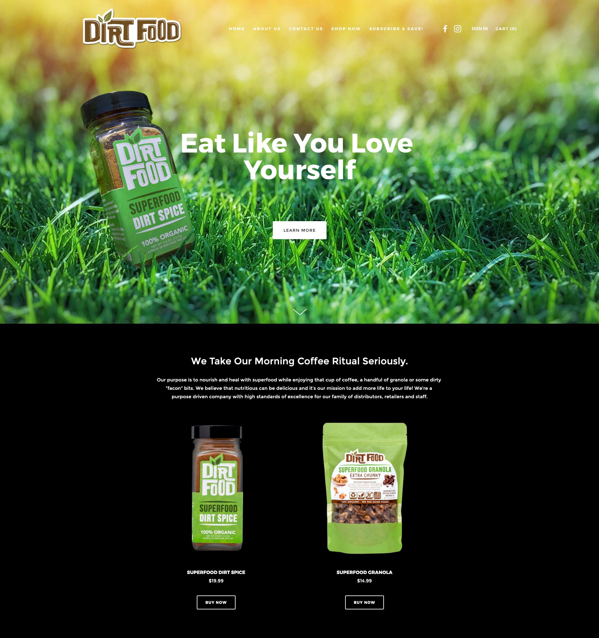 Dirt Food Website