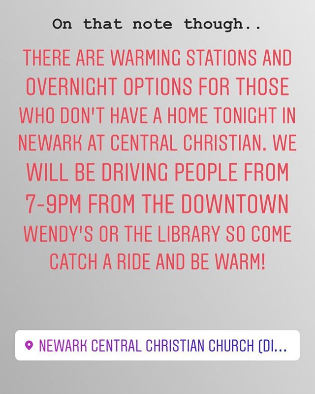 If you or someone you know doesn't have a place to sleep, there are options available. Please get help tonight at one of these locations!
