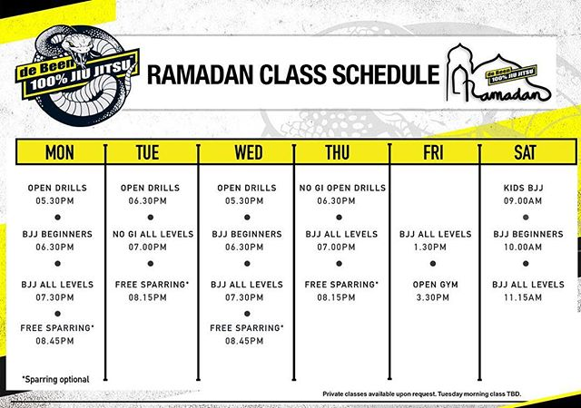 Happy Fasting to our Muslim brothers and sisters 🌙🙏 Ramadan schedule in effect starting Monday May 6 #peterdebeenjiujitsu #debeenjiujitsuindonesia #debeenjiujitsufamily #debeenjiujitsubintaro #debeenjiujitsukemang #debeenjiujitsubsd #debeenjiujitsucibubur #debeenjiujitsumalang #debeenjiujitsuyogyakarta #ramadan #ramadanschedule