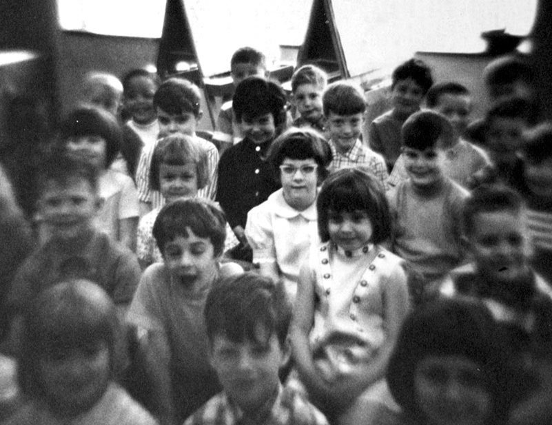 For show & tell in kindergarten I snapped a photo of my class with a toy camera. Shout-outs to Chuck, Steve, Lisa, Rafe, Tim, Mary...