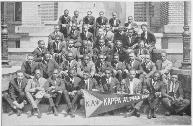 The Delta Chapter of Kappa Alpha Psi Fraternity, Incorporated at Wilberforce University, Ohio (1915).
