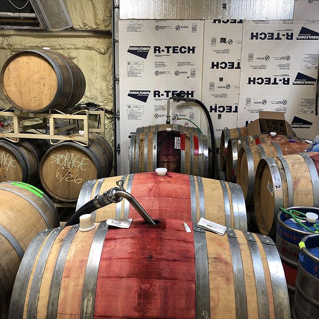 More racking. This time we're being smart and doing it in the barrel room where it's 55°