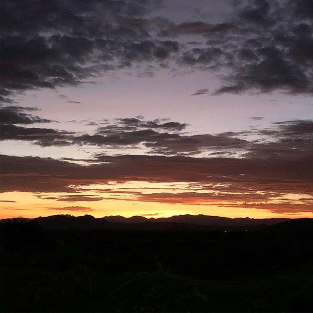 Sunrise over Cochise Head.