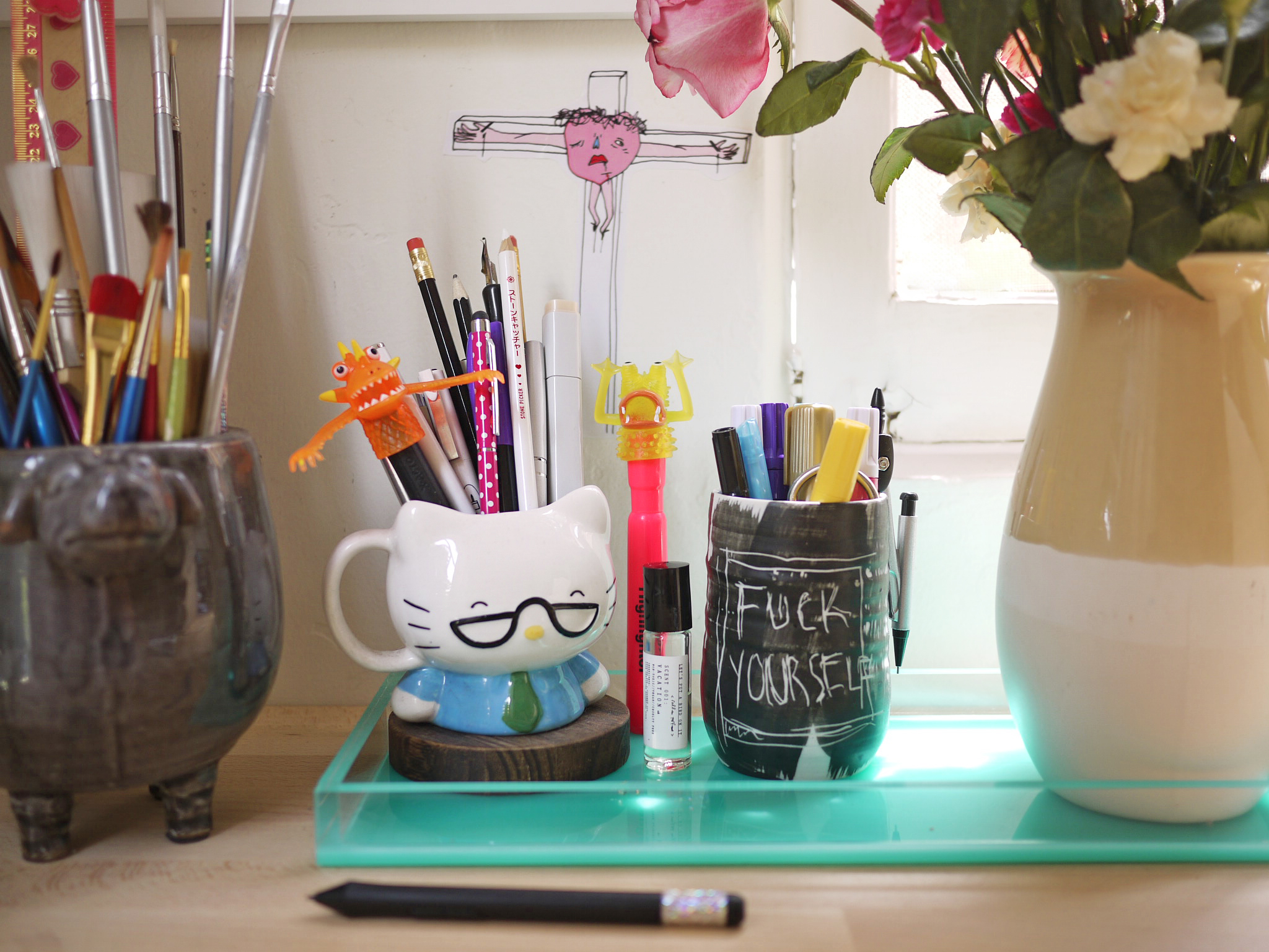 FUCK YOURSELF mug by ceramics + theory.