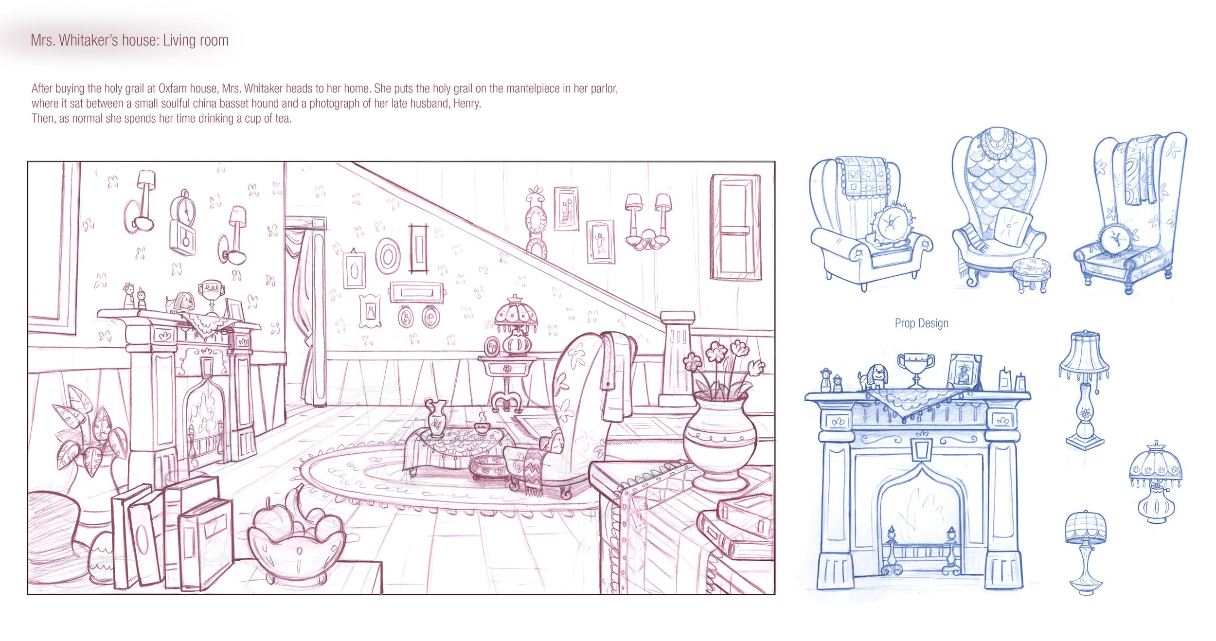 House interior design and prop studies.
