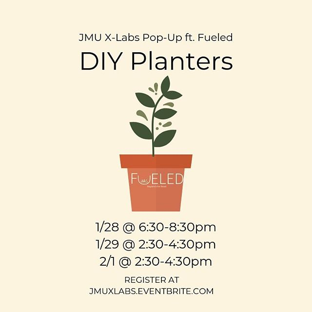 There's no better way to get ready for spring than a customized planter! Join us at X-Labs to create your own planter and get seedlings to take home to start your windowsill garden. Register now to save your spot!