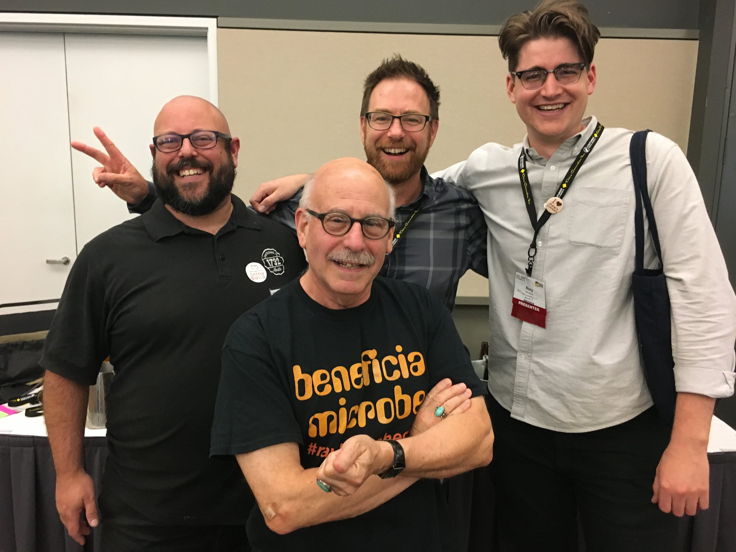On July 26th, Ari was honored to speak on a panel along with the distinguished group shown here.  Jeff Roberts  (front) moderated the panel which included Ari, Victory Brewing's Bill  Covaleski  (middle) and Cheesemonger  Rory Stamp  (right). Approximately 200 people attended the session on fermentation and artisan production which included tastings from Victory Brewing Co., Southern Tier Brewing Co. and Stoudt's. Ari offered up his award winning Lamb Prosciutto as part of the tasting which made a delicious pairing with St. Malachi Cheese from the  Farm at Doe Run .