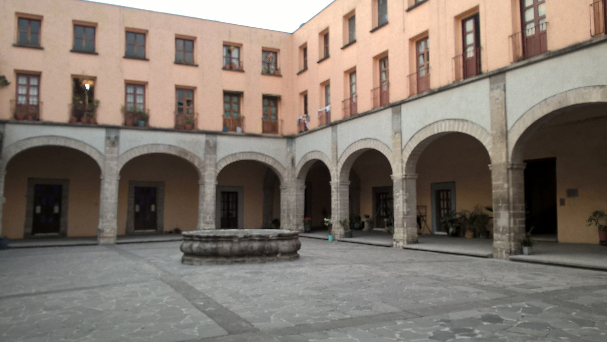 Courtyard of building