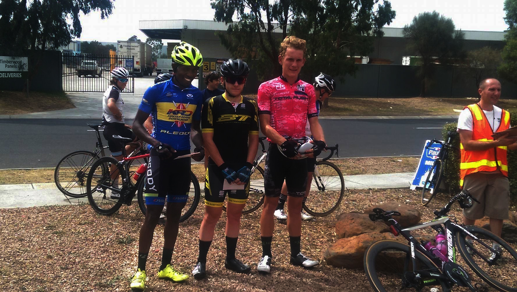 Suleiman Kangangi, runner up at the Coburg Cycling Club's criterium.