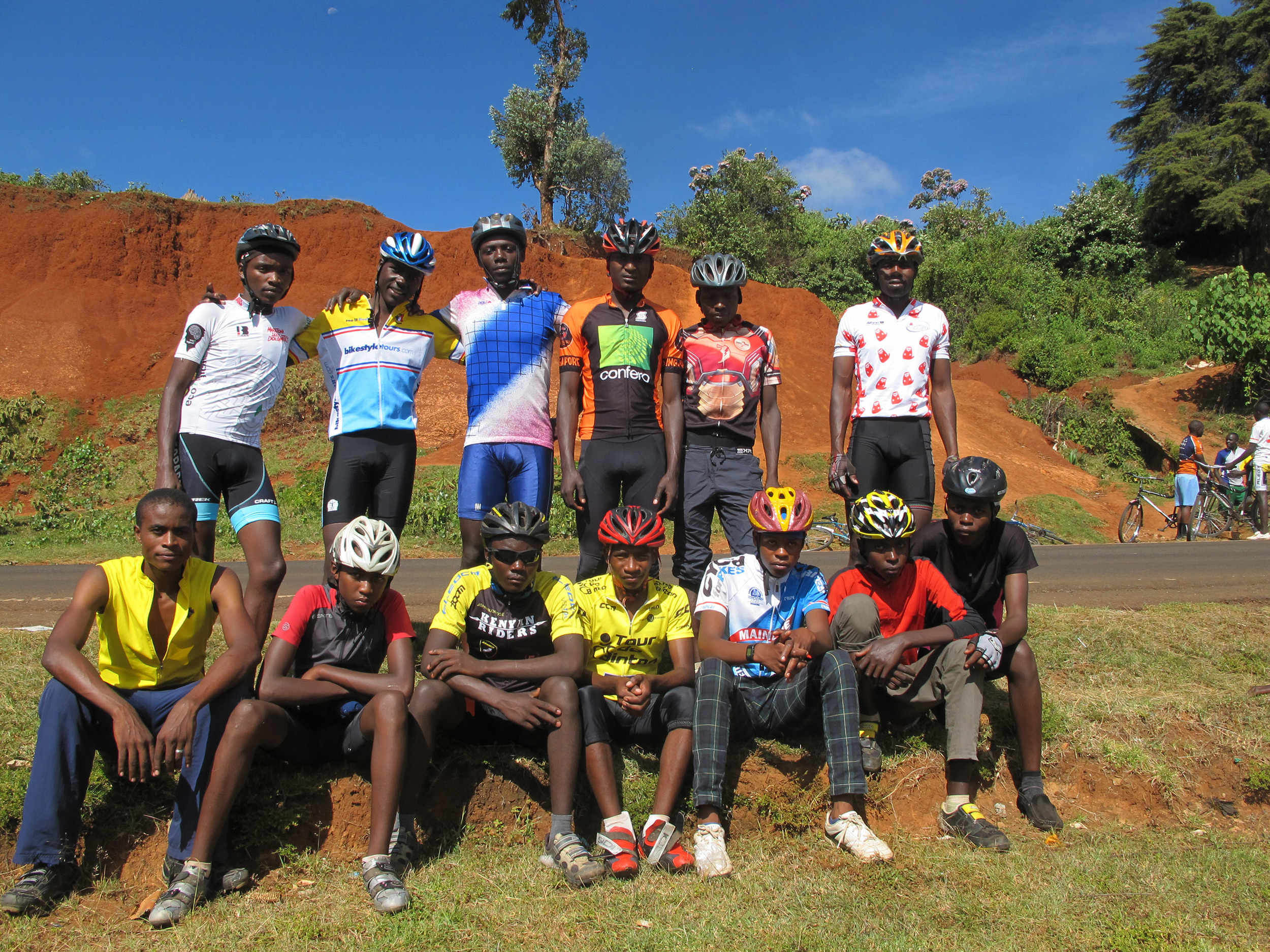The Nakuru team after a black mamba race.  Photo by   Ciarán Fitzpatrick.