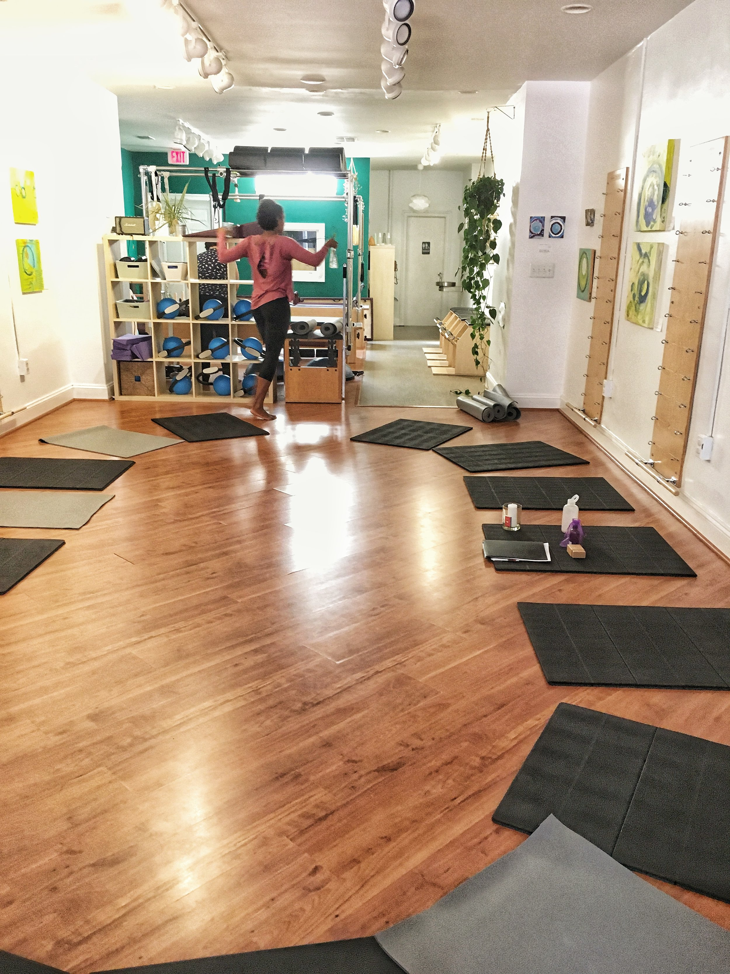 The Connect With Your Core Workshop was held at  Rooted Pilates , a studio located in southeast Washington, DC