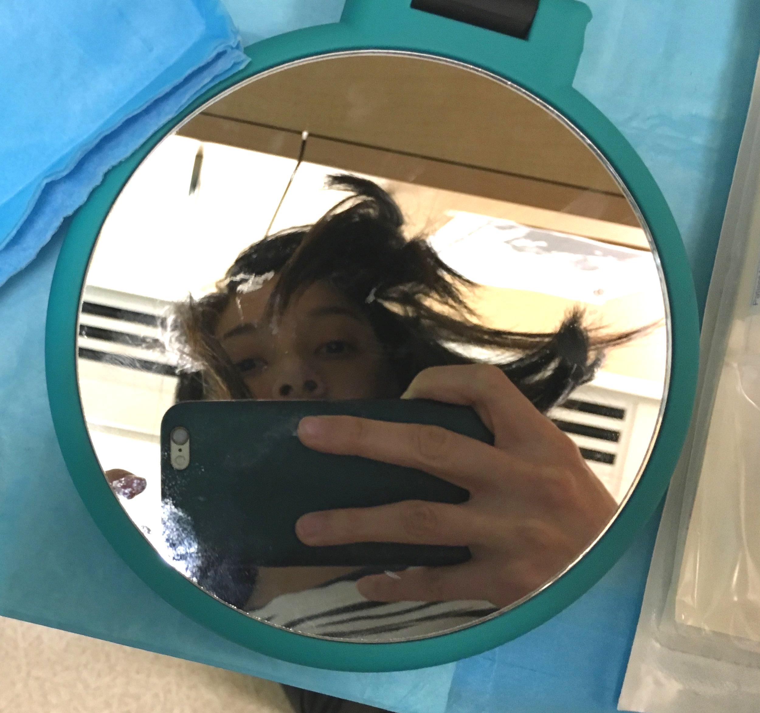 Medical mirror selfie?