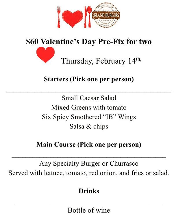 Celebrate Valentine's day with us at Island Burgers & Shakes ❤️🍔🥰🍟 Dine in only! . . #nycfoodie #bestburgers #burger #hungryhungry #hungrygirl #valentines #valentinesday2019 #valentinesdayspecial #hellskitchen #hellskitchennyc #upperwestside #upperwestsidenyc #nomnom #islandburgers #happyvalentinesday #lunchideas #dinnerideas #dinnerdeals #dinnerdate #datenight #newyorkcity #newforkcity #forkyeah